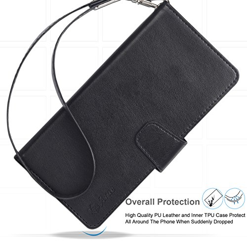 cfe76ff6bfa9 Arae Wallet Case Compatible for Samsung Galaxy Note 9 with Wrist ...