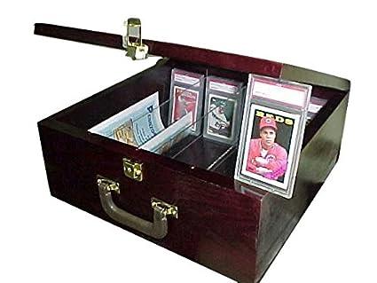 Pennzoni Display Card Storage Case For Baseball Cards Cherry Mahogany P315c