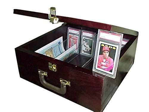(Pennzoni Display Card Storage Case for Baseball Cards Cherry/Mahogany P315C)