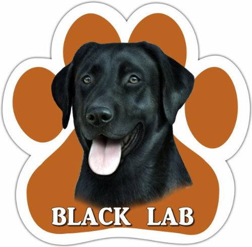 - Black Lab Car Magnet With Unique Paw Shaped Design Measures 5.2 by 5.2 Inches Covered In UV Gloss For Weather Protection