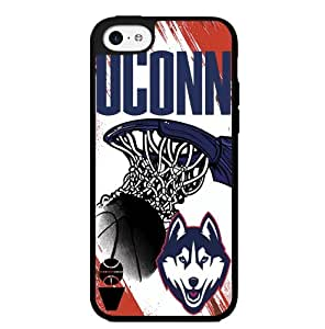 University of Connecticut UCONN Blue, Red, and White College Basketball Sports Hard Snap on Phone Case (iPhone 5c)