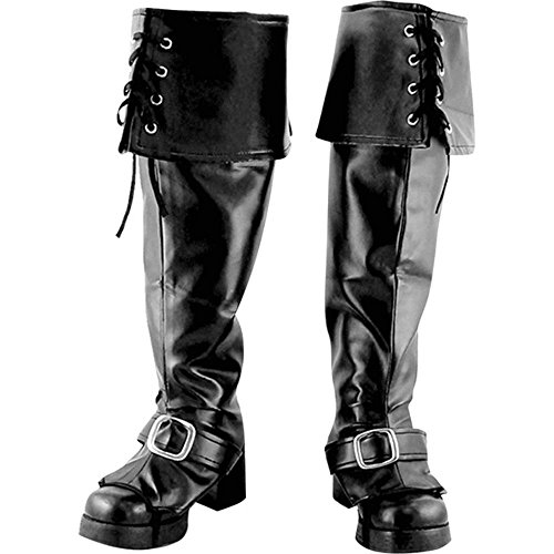 [Men's Deluxe Pirate Halloween Costume Boot Covers] (Pirate Costumes Boot Covers)