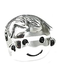Sterling Silver Cute Baby Boy Kid Bead Charm For European Charm Bracelet Jewelry