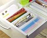 3 pcs Kitchen Expandable Grid Drawer Organizer Tray Case Divider Storage Box M
