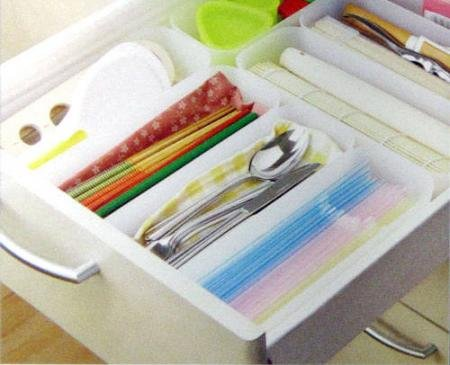 3 pcs Kitchen Expandable Grid Drawer Organizer Tray Case Divider Storage Box M by The 佑木