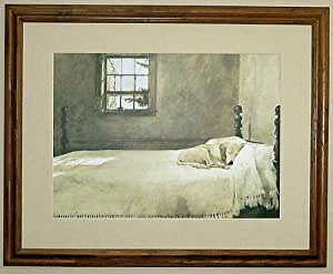 Big Oak Framed Andrew Wyeth Master Bedroom Dog On Bed Prints Posters Prints