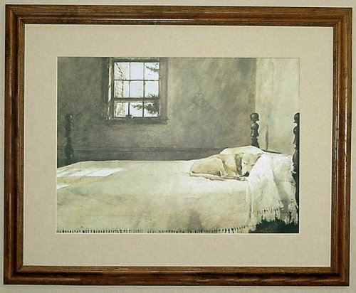 Amazon com  Big Oak Framed Andrew Wyeth Master Bedroom Dog On Bed  Prints   Posters   Prints. Amazon com  Big Oak Framed Andrew Wyeth Master Bedroom Dog On Bed