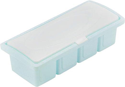 sourcing map Condimento Contenedor con Tapas Cocina Almacenamiento Hermético Caja Soporte Plástico Especias Condimento Envase Caja Azul: Amazon.es: Hogar