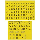Black on Yellow Braille-Large Print Letters