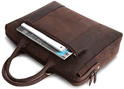 LEABAGS Pittsburgh bolso de mano de auténtico cuero búfalo en el estilo vintage - NuezMoscada NuezMoscada