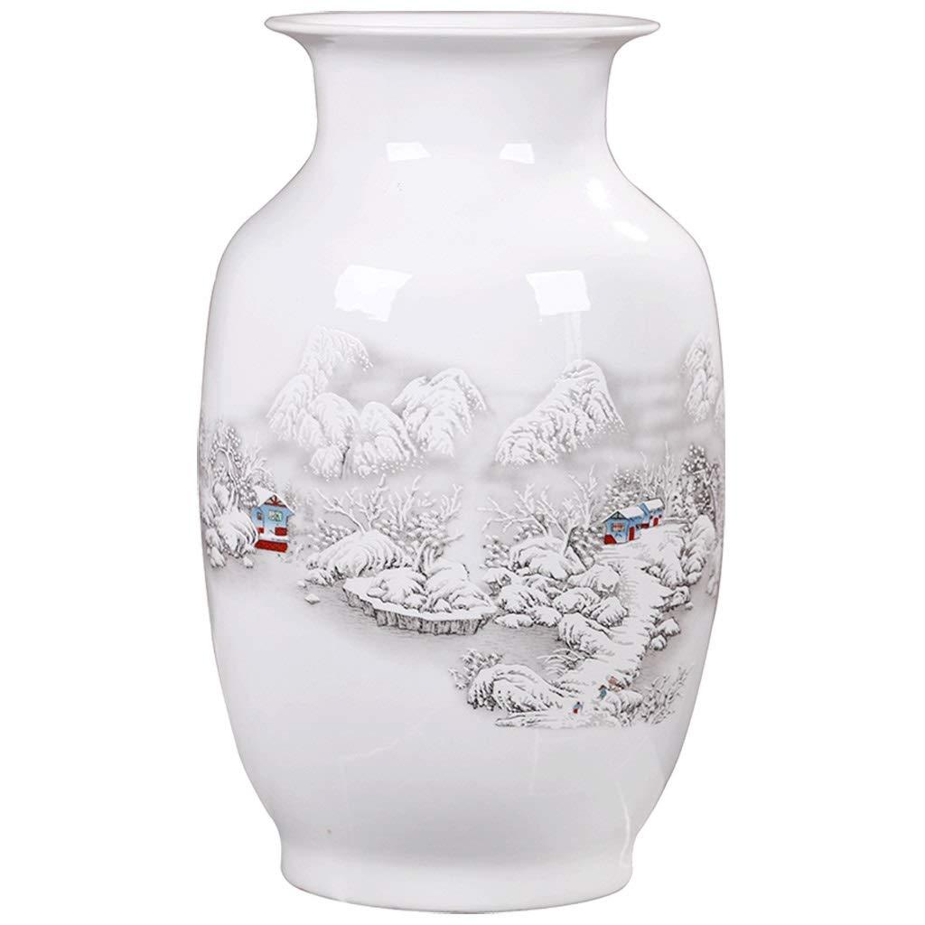 白い花瓶の装飾ワインキャビネット飾り花瓶シンプルなフラワーアレンジメントセラミック B07SLRKYF8