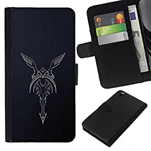 All Phone Most Case / Oferta Especial Cáscara Funda de cuero Monedero Cubierta de proteccion Caso / Wallet Case for HTC DESIRE 816 // biker ángel alas guardabarros de motocicleta
