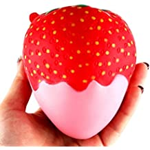 Hot Sale!!! Squishy Stress Relief Toys,Jushye 11.5cm Strawberry Scented Squishy Slow Rising Squeeze Toys (C)