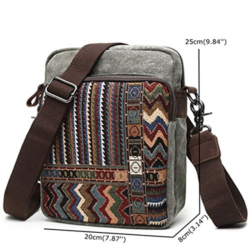 Vintage Style Brenice Shoulder Bags Crossbody for Crossbody Blue Bag Canvas Casual Women National qpIZTgwg