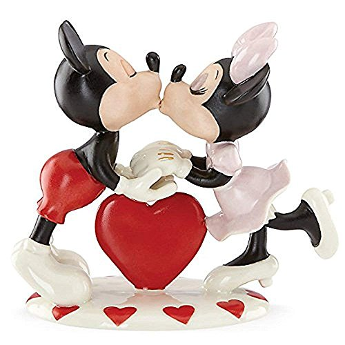 Lenox Heart (Lenox Ivory Fine China Mickey Loves Minnie Figurine with Gold Accents)