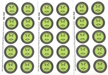 (Mr. Yuk Stickers 3 Sheets (30 Total) Poison Prevention Genuine)