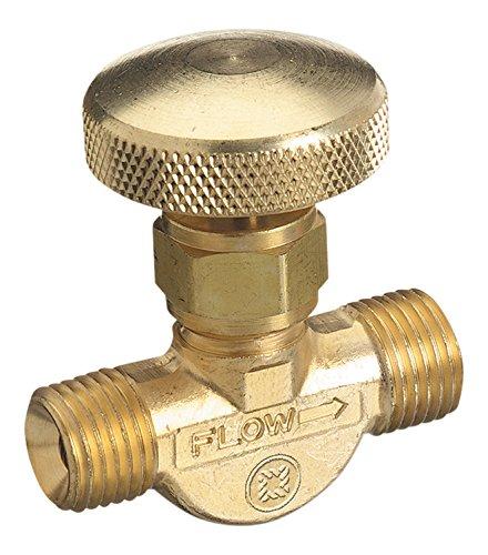 Western Enterprises 206 Non Corrosive Gas Flow Valves  200 Psig  Acetylene Fuel Gas  9 16    18 Lh M   0 5 Length  B Size