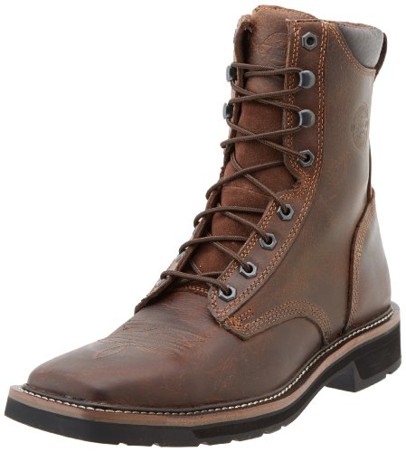 Justin Original Men's Worker Pulley Soft Toe Work Boots, Rugged Tan, 10 D(M) - Grilling Original