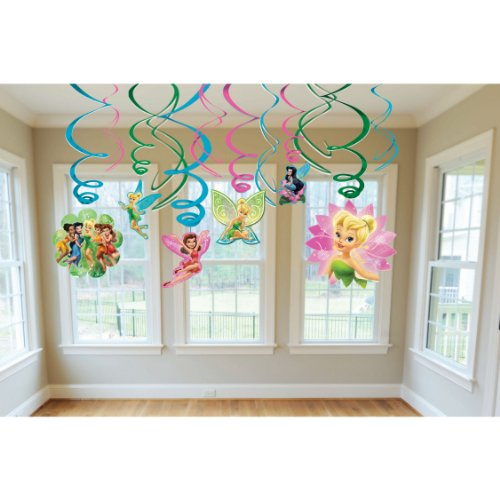 Amscan Tinker Bell Best Friends Fairies Swirl Decorations, - Pictures Fairies Tinkerbell