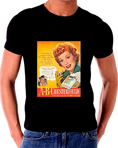 - I Love Lucy Says Smoke Chesterfield Cigarettes Advertising T shirt