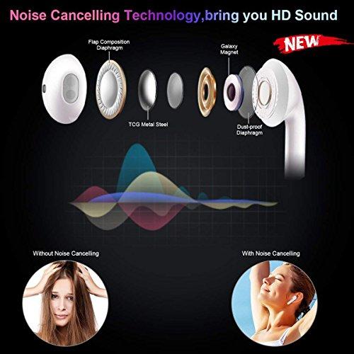 HD Bluetooth Headset - Wireless Headphones Women's Wireless Headphones Men - Sports in-Ear Headphones Wireless Headphones Stereo Headphones Sports Headphones with Microphone Mini in-Ear Headphones by jieanruituo (Image #3)