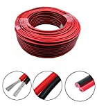 Wellite 66FT 18-2 AWG Gauge Electrical Wire, Low Voltage for Landscape Lighting System, Red&Black Parallel Wire