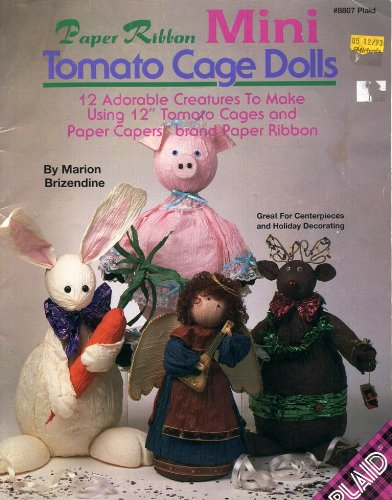 Tomato Cage Halloween Decorations (Paper Ribbon Mini Tomato Cage Dolls Craft Book)