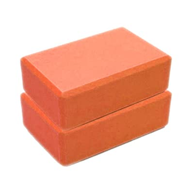 haoricu Yoga Block,Exercise Fitness Foam Bolster Pillow Cushion, High Density Comfortable EVA Foam Yoga Blocks (23158CM, Orange): Clothing
