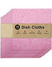 Absorbent Kitchen Towels,Wash Cloths,Dish Towels for Kitchen & Table Linens,Cleaning Cloths,Dish Rags,Tea-towels for Washing- Eco-Friendly Reusable Durable No Odor(Assorted Sizes and Colors,10 Pack)