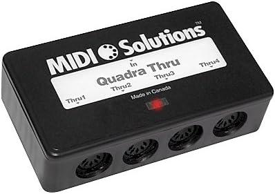 Midi Solutions Quadra 4-output Midi Thru Caja