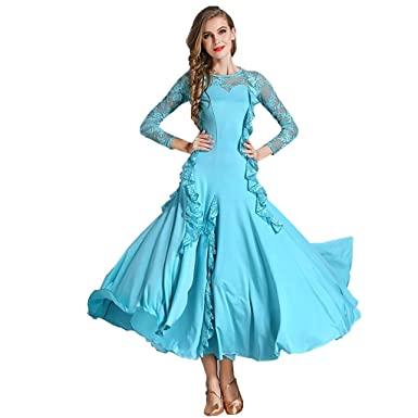f0c59d6f9efc4 YTS Four Seasons Light Blue Dance Dress, Adult Female Dress (Color : Light  Blue