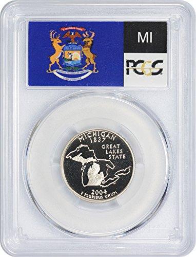 2004 S Michigan State Clad Quarter PR70DCAM PCGS ()
