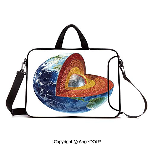 AngelDOU Laptop Sleeve Notebook Bag Case Messenger Shoulder Laptop Bag Earth Cross Section Showing The Inner Core Geology Science Themed Structure Prin Compatible with MacBook HP Dell Lenovo Multico