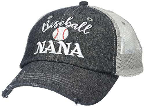 Cocomo Soul Embroidered Baseball Nana Grandma Mesh Trucker Style Hat Cap Grandma Gift Mothers Day Dark Grey