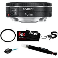 Canon EF 40mm f/2.8 STM Lens Bundle with Tiffen UV Protector + Accessory Kit