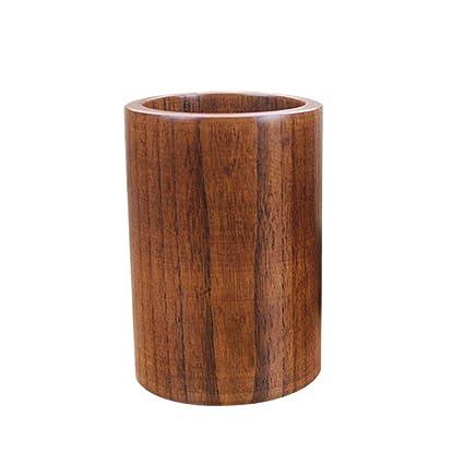 Buy Bestonzon Eco Friendly Wooden Utensil Holder Round Chopsticks