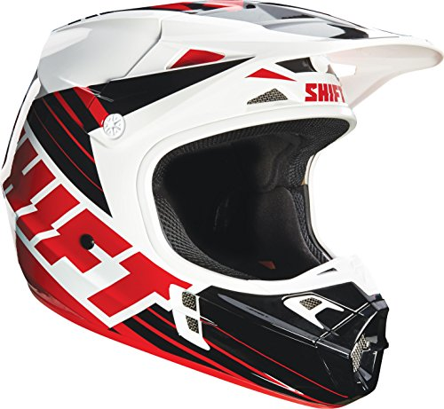 - Shift Racing Assault Men's Off-Road Motorcycle Helmets - Black/White/Small