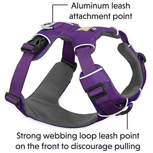 RUFFWEAR All Day Adventure Dog Harness, Medium Breeds, Adjustable Fit, Size: Medium, Tillandsia Purple, Front Range Harness, 30501-501M