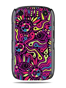 "GRÜV Premium Case - ""Abstract Circuit Board Tribal Art"" Design - Best Quality Designer Print on Black Hard Cover - for Blackberry Curve 9320 9310 9315 9220"