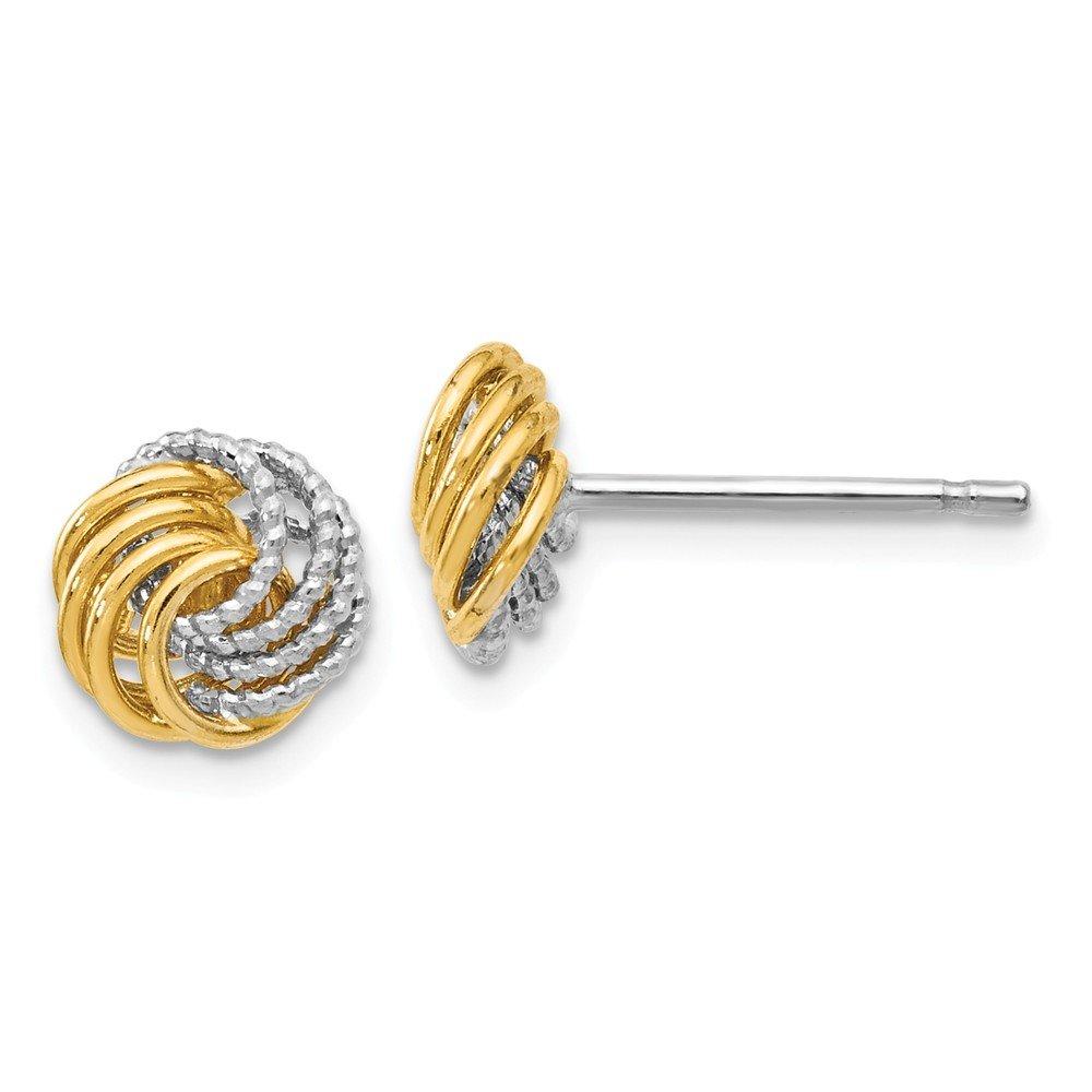 Leslies 14k Two-tone D/C Love Knot Earrings