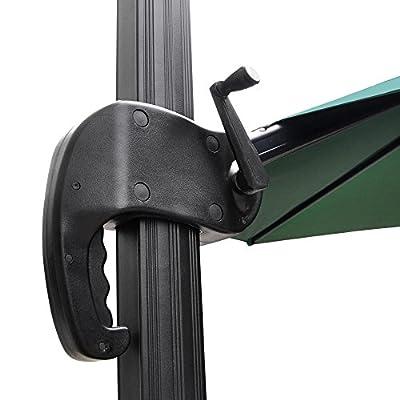 10' Hanging Roma Offset Umbrella Outdoor Patio Sun Shade Cantilever Crank Canopy By Allgoodsdelight365