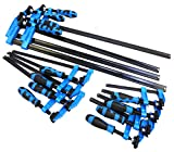 Blue Handled 12pc F Clamp Bar Clamp 4X 6', 4X 12' & 4 x 24'Long Quick Slide Wood Clamp