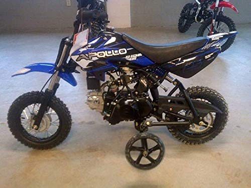 Apollo New Youth Fully Automatic DB25-70cc Dirt Bike w/Training - Training Wheels Dirt Bike