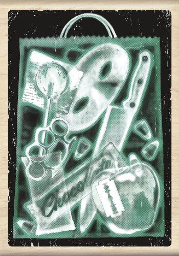 Inkadinkado Wood Stamp, X-Ray Trick or Treat ()
