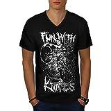 Fun With Knives Ghost Bike Life Men NEW Black S-2XL V-Neck T-shirt   Wellcoda