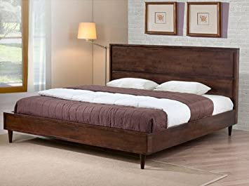 vilas modern king size solid wood platform bed frame - Solid Wood Platform Bed