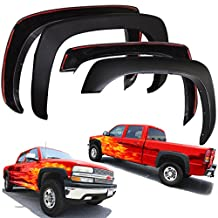 Fender Flares for Chevy Silverado 99-06 Set of 4 Paintable Matte Black OE Style