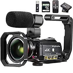 Image of the product Video Camera 4K Camcorder that is listed on the catalogue brand of ZOHULU.
