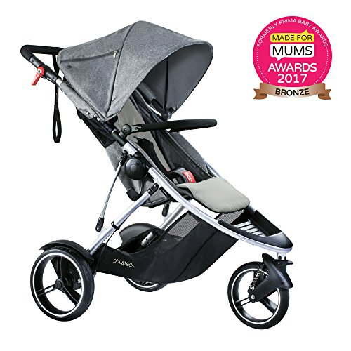 Reversible Single Stroller Liner - phil&teds Dash Inline Stroller, Grey Marl