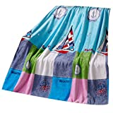 Carton Vessel Baby Summer Air Conditioning Coral Carpet Infant Towel Blanket